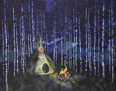 Painting - Aspen Camp by Melinda Cummings