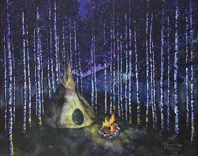 Painting - Aspen Camp by Melinda Cummings