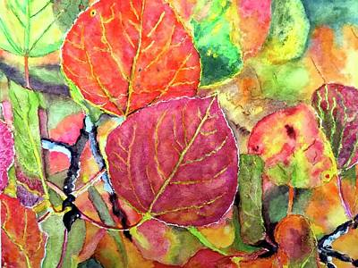Painting - Aspen Color by Carol Warner