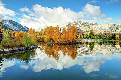 Photograph - Aspen Colorado Autumn Mountain Landscape Reflections by Gregory Ballos