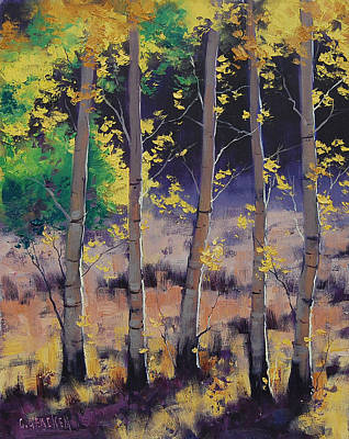 Fall Foliage Wall Art - Painting - Aspen Colors by Graham Gercken