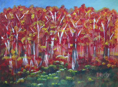 Painting - Aspen Fall by Donna Blackhall