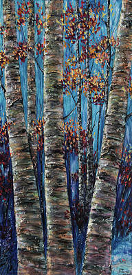 Painting - Aspen Forest In The Rocky Mountain by OLena Art Brand