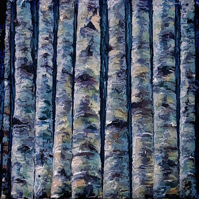 Painting - Aspen Forest In The Rocky Mountains by OLena Art Brand