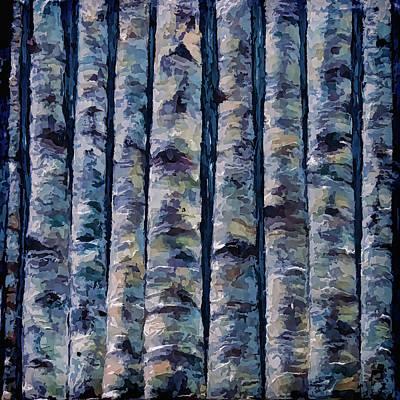 Impasto Oil Digital Art - Aspen Forest In The Rocky Mountains by Art OLena