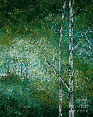 Painting - Aspen Forest by Tamyra Crossley