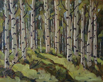 Zanobia Painting - Aspen Forest by Zanobia Shalks
