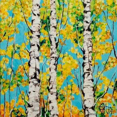 Gold-filled Painting - Aspen Gold by Jackie Carpenter