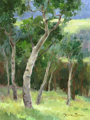 Rocky Mountain National Park Painting - Aspen Grove I by Anna Rose Bain