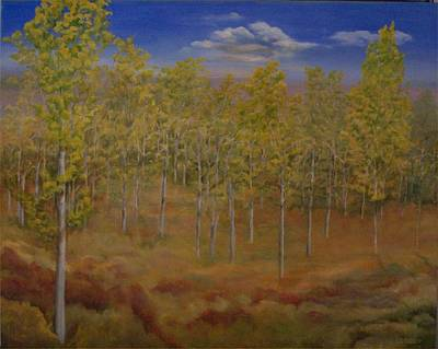 Painting - Aspen Grove by Irene Corey