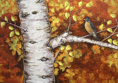 Wall Art - Painting - Aspen In Fall by Cheryl Bishop