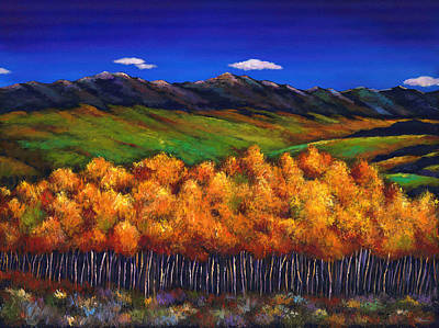Autumn Scene Painting - Aspen In The Wind by Johnathan Harris