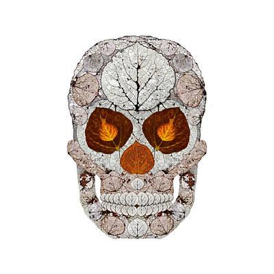 Digital Art - Aspen Leaf Skull 11 by Agustin Goba