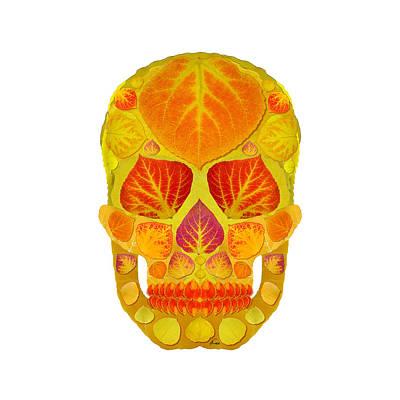 Aspen Leaf Skull 13 Art Print by Agustin Goba