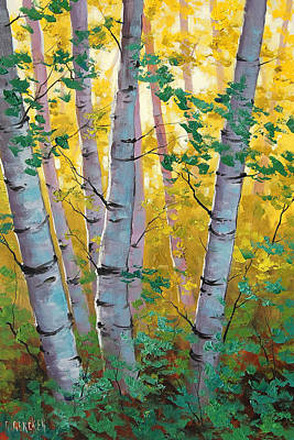 Elm Painting - Aspen Light by Graham Gercken