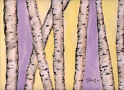Nature Abstract Drawing - Aspen by P J Lewis