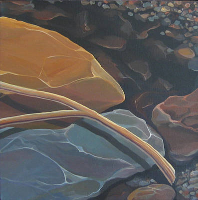 Aspen Rain Branch Art Print