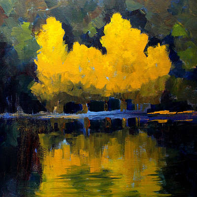 Painting - Aspen Reflection by Nancy Merkle