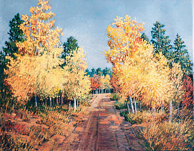Painting - Aspen Shadows by Donna Clair