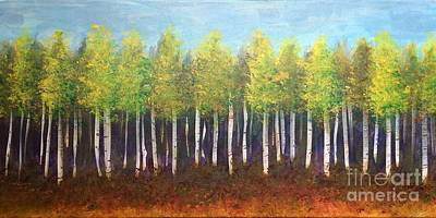 Painting - Aspen Song by Lisa DuBois