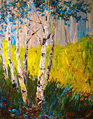 Painting - Aspen Spring by Alan Lakin
