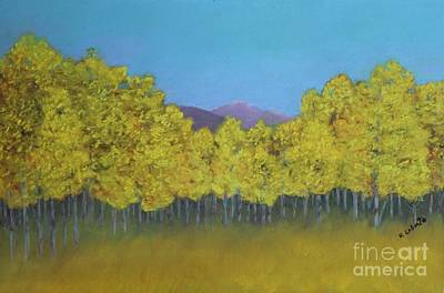 Painting - Aspen Stand by Mary Erbert