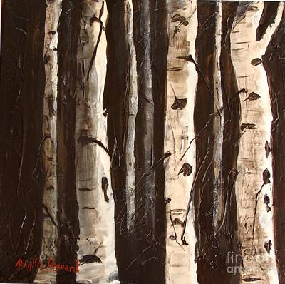 Painting - Aspen Stand by Phyllis Howard