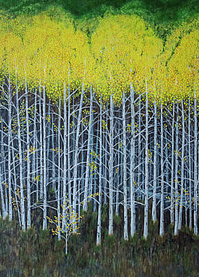Painting - Aspen Stand The Painting by L J Oakes