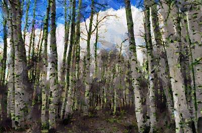 Painting - Aspen Standing by Jeff Kolker