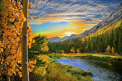 Photograph - Aspen Sunset At Twin Lakes by Lynn Bauer