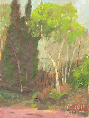 Painting - Aspen Trail by Lilibeth Andre