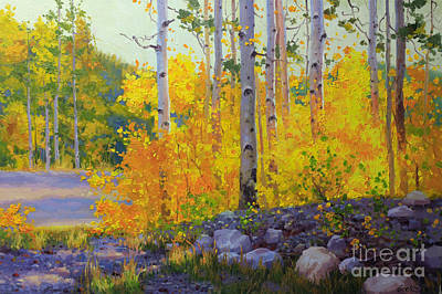 Rocky Mountain National Park Painting - Aspen Vista by Gary Kim