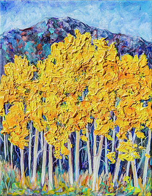 Painting - Aspens #4 by Sally Quillin