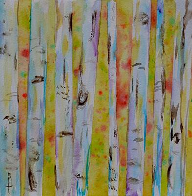 Painting - Aspens Abstract II by Beverley Harper Tinsley