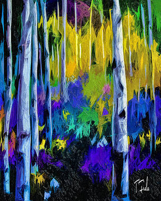Digital Art - Aspens At Angel Fire by Terry Fiala