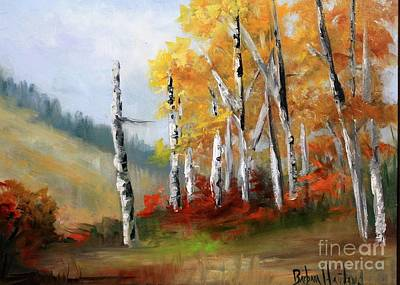 Painting - Aspens En Plein Air by Barbara Haviland