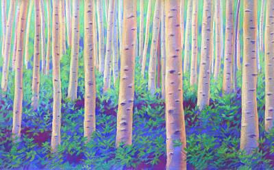 Pastel - Aspens In Aspen by Linda Ruiz-Lozito