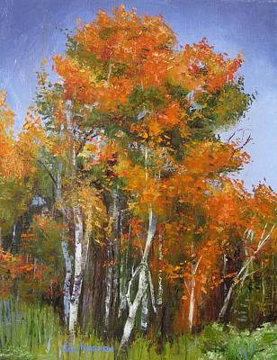 Painting - Aspens In Red by Jan Hodson