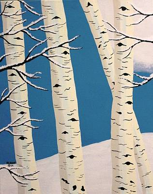 Painting - Aspens In Winter by Ralph Root