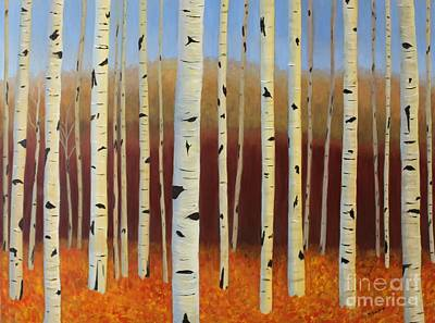 Painting - Aspens Near Victor by Mary Erbert