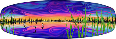 Wakeboard Painting - Asperatus Undulatus by Patrick Houston