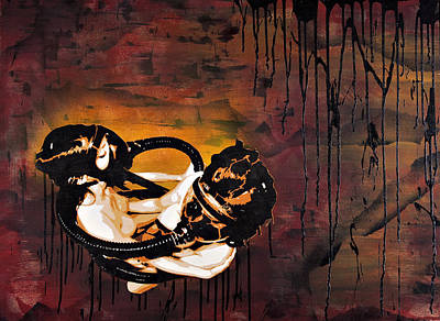 Images Painting - Asphyxiation By Oil Dependency by Tai Taeoalii