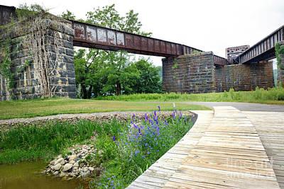 Walkway Digital Art - Aspinwall Riverfront Park by Amy Cicconi