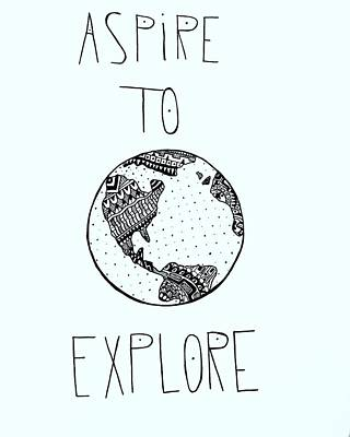Basic Drawing - Aspire To Explore by Grant  Crumpton