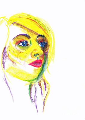 Pastel - Yellow Face by Haley Howard