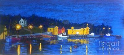 Pastel - Aspotogan At Night  by Rae  Smith PAC