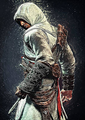 Digital Art - Assassin's Creed - Altair by Taylan Apukovska