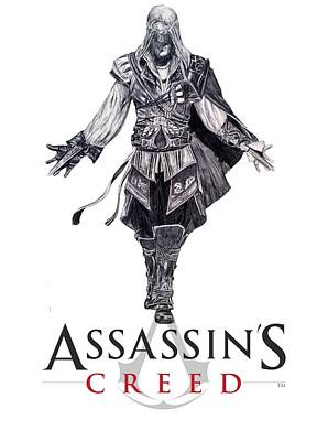 Auditors Wall Art - Drawing - Assassins Creed by Zoe Brittle