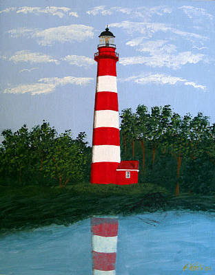 Painting - Assateague Island Light by Frederic Kohli