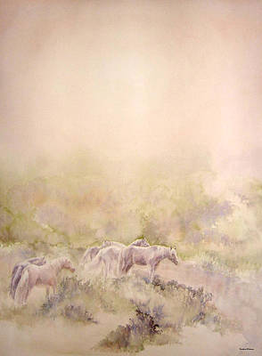 Assateague Ponies Art Print by Barbara Widmann